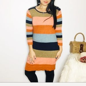 Isabella Sinclair Striped Sweater Dress Lambswool